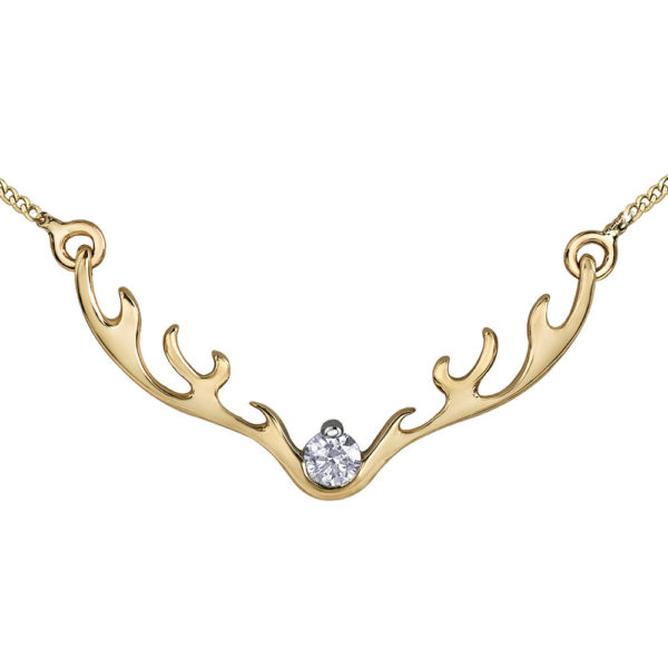 Canadian Diamond Antler Necklace