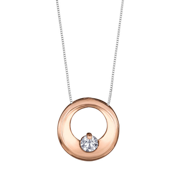 Canadian Diamond Circle Necklace