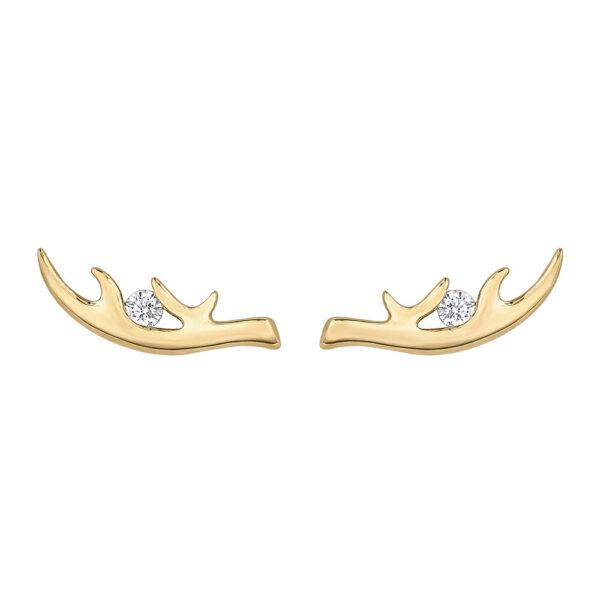 Canadian Diamond Antler Earrings