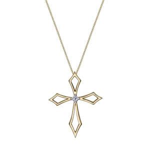 Canadian Diamond Cross Necklace