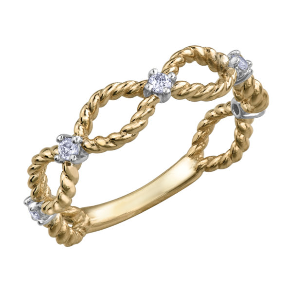 Twisted Rope Design Ring