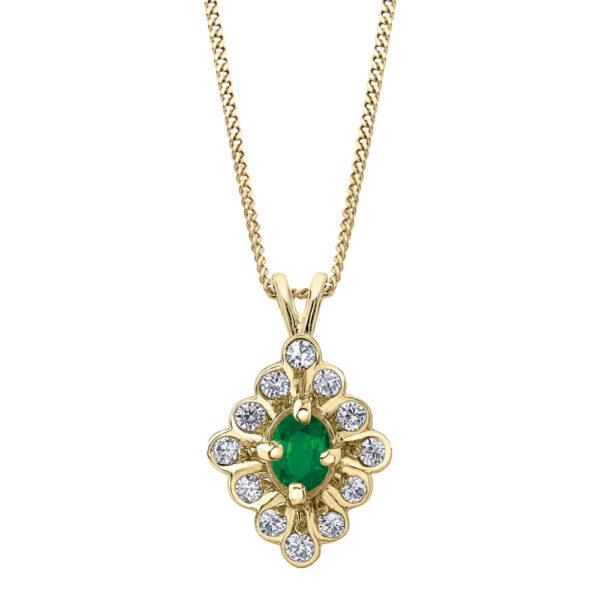 Vintage Emerald & Diamond Necklace