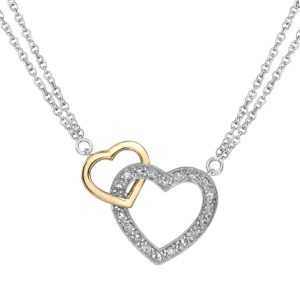 Two Hearts together Necklace