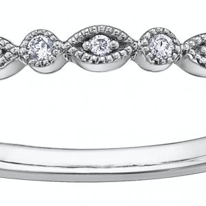 Scalloped & Round Diamond Band