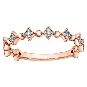 Rose Gold Diamond Shaped Ring