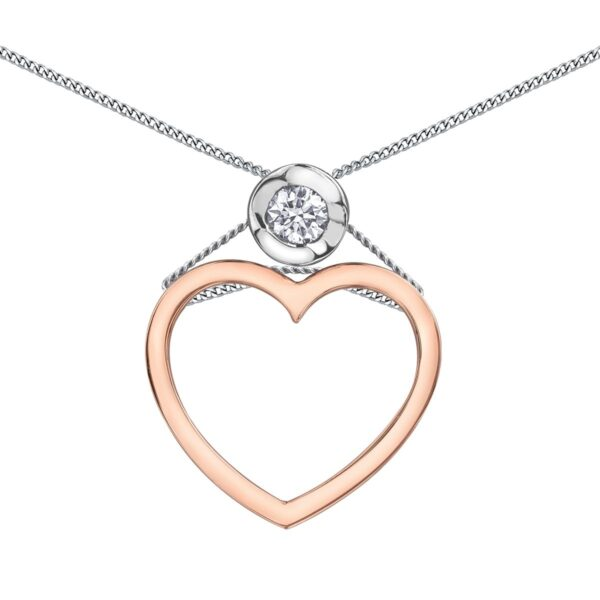 Canadian Heart Necklace