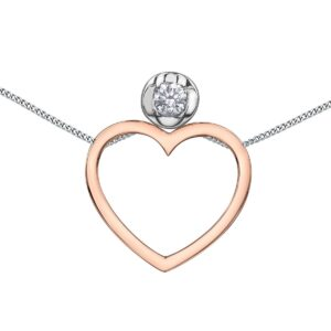 Canadian Diamond interchangable heart Necklace