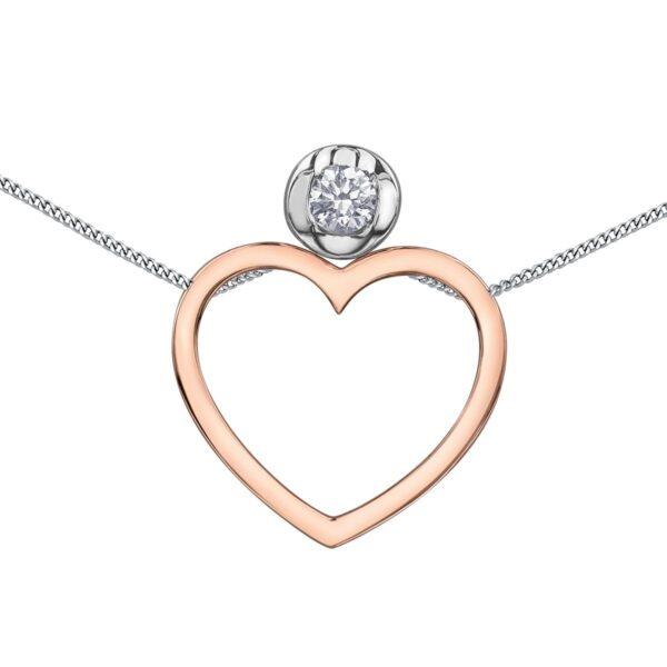 Canadian Diamond interchangable heart Necklace