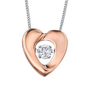 Rose Gold Pulse Diamond Heart