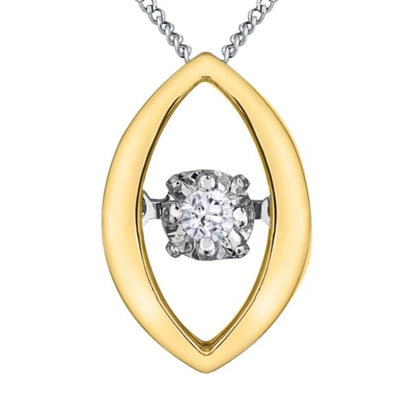 Yellow Gold Teardrop Necklace