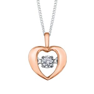 Rose Gold Pulse Heart Necklace