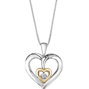 Sterling Silver & Gold Pulse Necklace