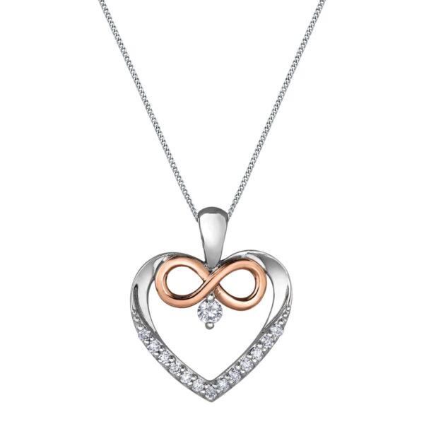 Maple Leaf Diamonds Infinity Heart