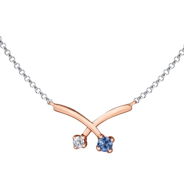 Tanzanite and Maple Leaf Diamond Necklace