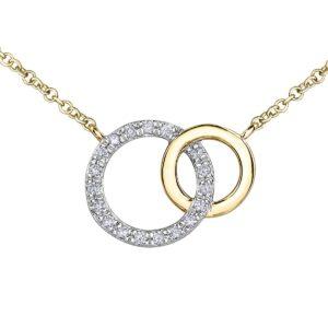 Interlocking Circles Diamond Necklace