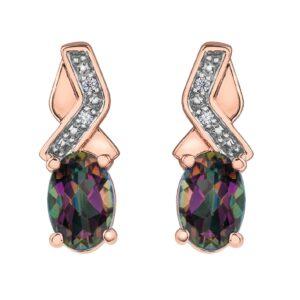 Mystic Topaz & Diamond Earrings