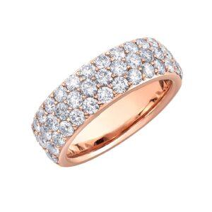 2.00ct Pave Diamond Rose Gold Diamond Band