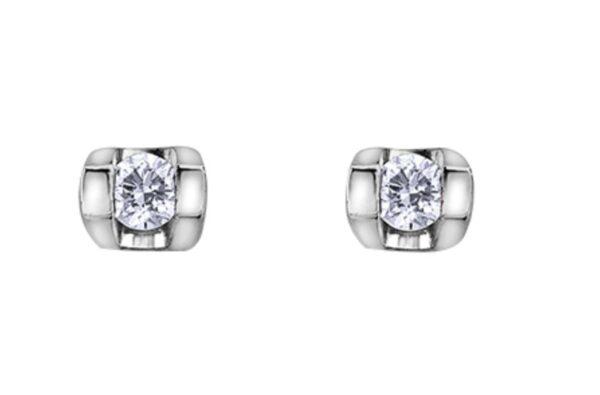 Tension Set Diamond Earrings