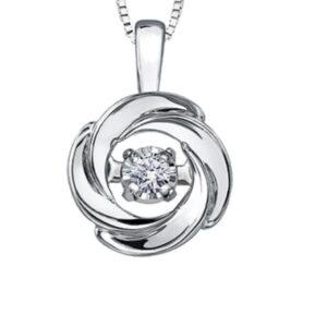 Tempo Swirling Circle Diamond Pendant