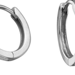 Diamond Solitaire Hoop Earrings